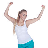Female fitness while dancing Stock Photography
