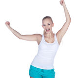 Female fitness while dancing Royalty Free Stock Photo