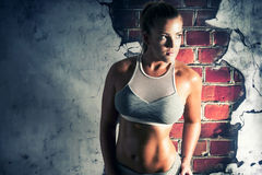 Female fitness model posing Royalty Free Stock Image