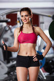 Female fitness model Royalty Free Stock Image