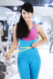 Female fitness trainer at gym center Stock Photography