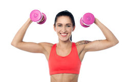 Female fitness trainer working out Stock Photo