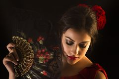 Female flamenco dancer Royalty Free Stock Images