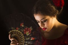 Female flamenco dancer Royalty Free Stock Image