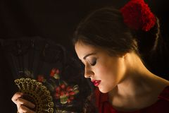 Female flamenco dancer Royalty Free Stock Photos