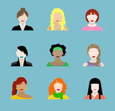 Female Flat Icons Royalty Free Stock Images