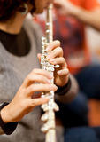 Female flautist Royalty Free Stock Photos