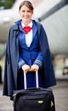 Female flight attendant Royalty Free Stock Photography