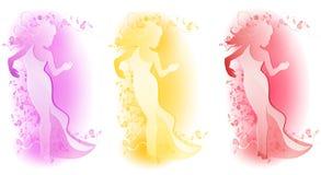 Female Floral Fashion Logos royalty free illustration
