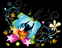 Female floral vector. Abstract female floral vector illustration Stock Photo