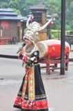 A female folk singer Stock Photo