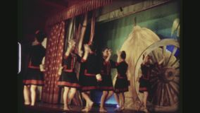 Female Folklore Dance Group In The Seventies