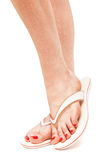 Female foot in flip-flop Stock Photos