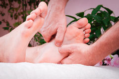 Female foot massage Royalty Free Stock Image