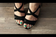 Female foot with pedicure Stock Photos