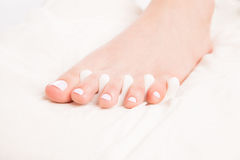 Female foot at procedure of pedicure Royalty Free Stock Photography