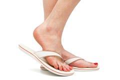 Female foot in sandal Stock Photos