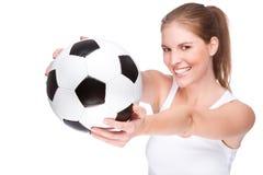 Female football fan Royalty Free Stock Photography