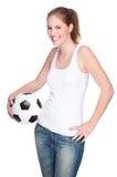 Female football fan Royalty Free Stock Photos