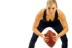 Female Football Player Royalty Free Stock Photo