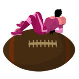 Female Football Player Illustration Silhouette Royalty Free Stock Image