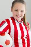 Female football player Royalty Free Stock Photo