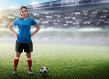 Female football player Royalty Free Stock Image