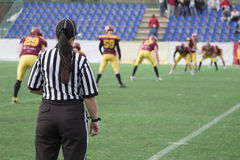 Female Football referee Royalty Free Stock Image