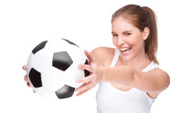 Female footballer Royalty Free Stock Images