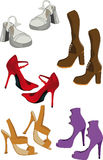 Female footwear Royalty Free Stock Photo