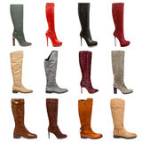 Female footwear collection Stock Images
