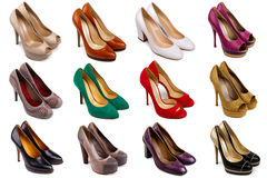 Female footwear collection Royalty Free Stock Images