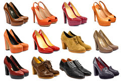 Female footwear collection Royalty Free Stock Image