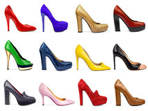 Female footwear collection-1 Royalty Free Stock Photo