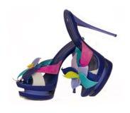 Female footwear on heel Stock Photography