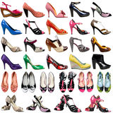 Female footwear on a white background. Stock Photos