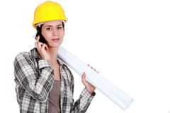 Female foreman Royalty Free Stock Image