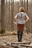 Female in forest Royalty Free Stock Photography