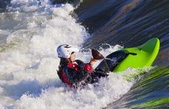Female Freestyle Kayaker Stock Image