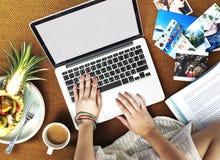 Female Freetime Laptop Concept Stock Photos
