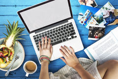 Female Freetime Laptop Concept Royalty Free Stock Photo