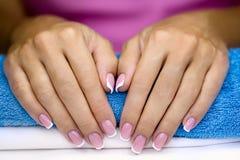 Female french manicure stock image