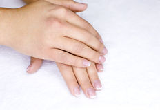 Female french manicure Royalty Free Stock Photo