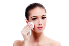 Female with fresh clear skin Royalty Free Stock Photos