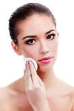 Female with fresh clear skin Stock Image
