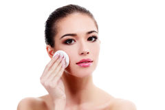 Female with fresh clear skin Stock Photography