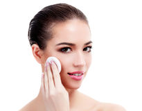Female with fresh clear skin Royalty Free Stock Photography