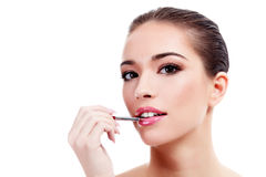Female with fresh clear skin Stock Images