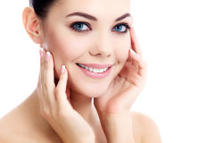 Female with fresh clear skin Royalty Free Stock Images