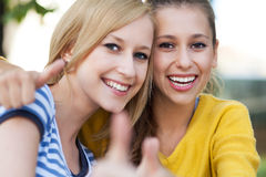Female friends Stock Photo